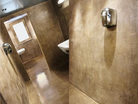 Bagno in resina pavimenti e rivestimenti cores srl - Resina su piastrelle bagno ...